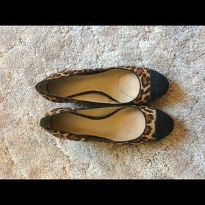 Calf hair block heel